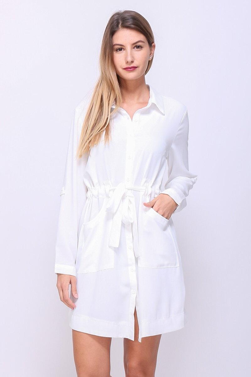 Dámske košeľové šaty s gombíkmi 92cc25ff554