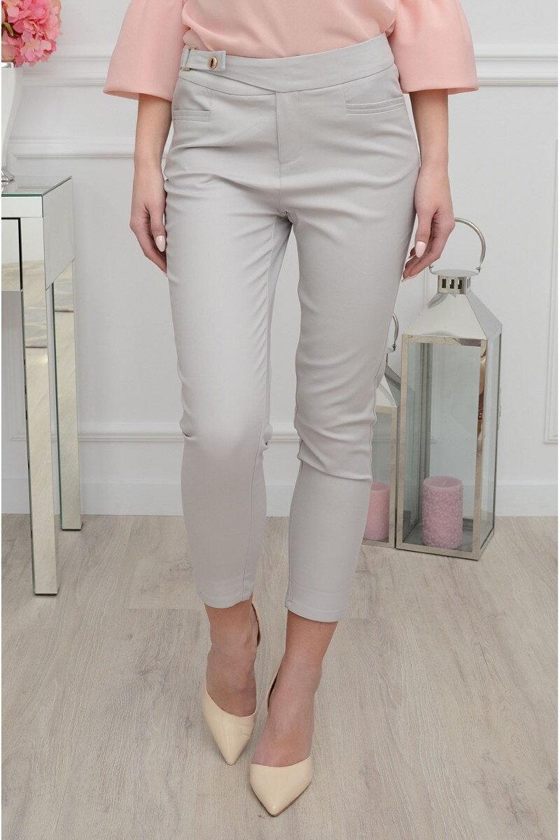 cef1a69ab55e Dámske nohavice sivej farby
