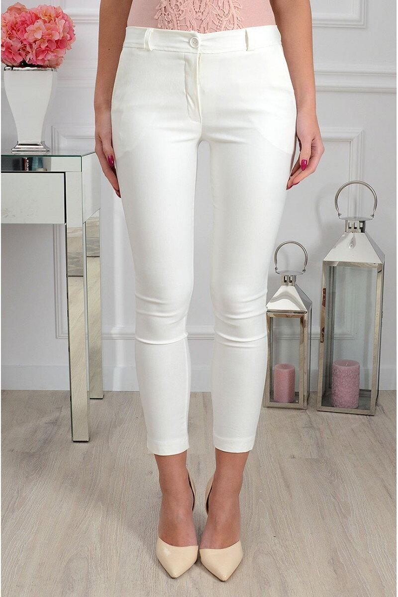 dbad8025125e Dámske nohavice bielej farby