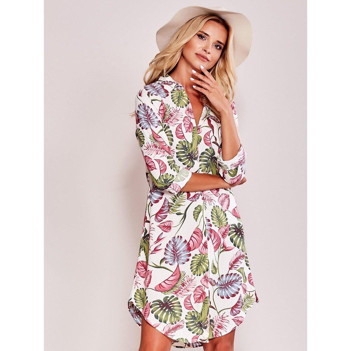 954083fb36d Béžové košeľové šaty EB-182-SK-131-10