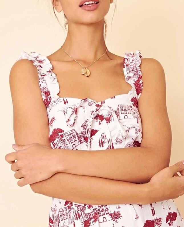 431406e7c9ff Previous. Vzorované biele midi šaty 205-459