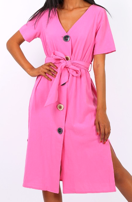 f0d6ec5c777c Bavlnené letné šaty F-V2279 fuchsia