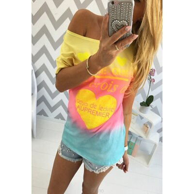 Dámsky top Heart Ombre - IF28