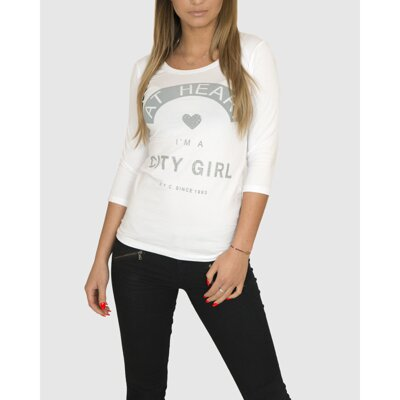 Biely top City Girl KS-175