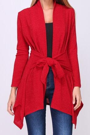 Červený sveter s viazaním 5f083caa9f