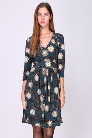 8074af1330d Tmavozelené vzorované šaty