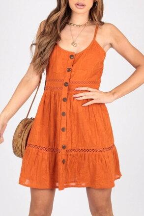 dd01a9b7c2d8 Oranžové letné šaty 205-6333