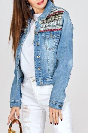 375ba9292a74 Dámska džínsová bunda IM-12687