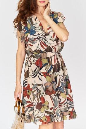 d473defe3660 Béžové kvetované šaty IM-SU14129