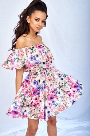 25b98569ad84 Volánové šaty SUMMER FLOWERS