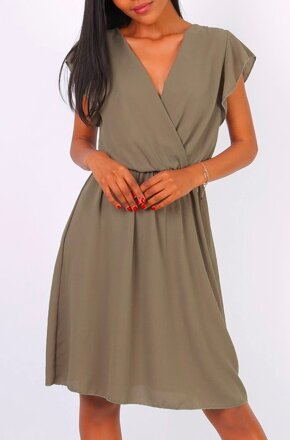 37fb473fabba Khaki šifónové šaty Diana