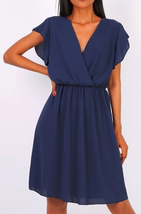5f46a16aac41 Tmavomodré šifónové šaty Diana