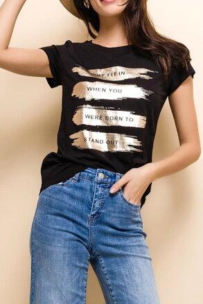 d067d214b5b9 Čierne tričko s nápismi F-MG13301