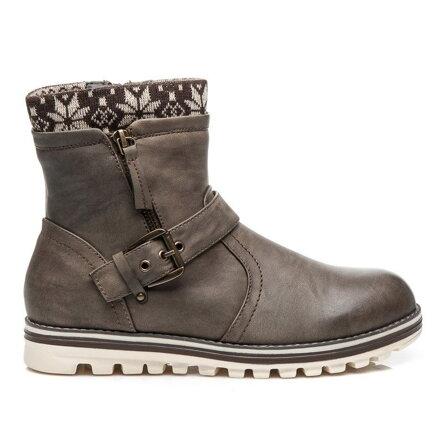 f85d43edd8fe Dámske topánky GD-15-6409KH sivé