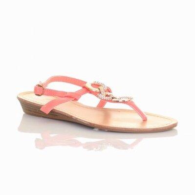 bc6005e001ab Sandále v marhuľovej farbe H027