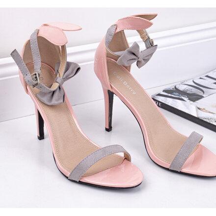 078aa21f0997 Lakované sandále s mašličkou 108-3P