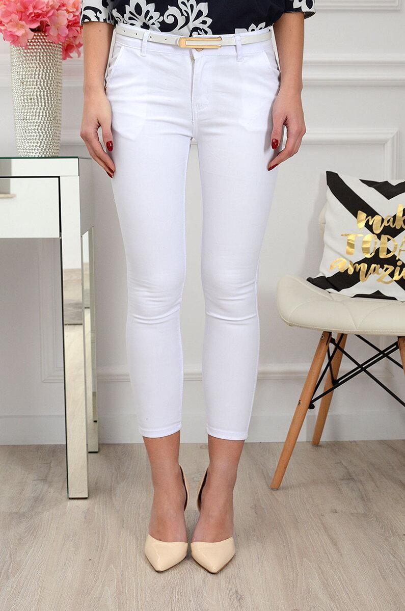 c3402700295d Elegantné skinny nohavice biele