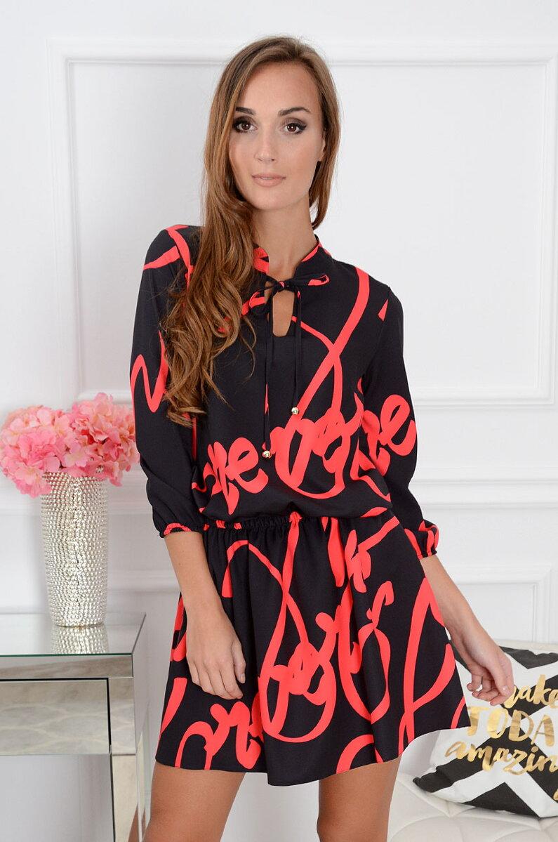 3a88970c5005 Dámske šaty s nápismi Polina CO-32061