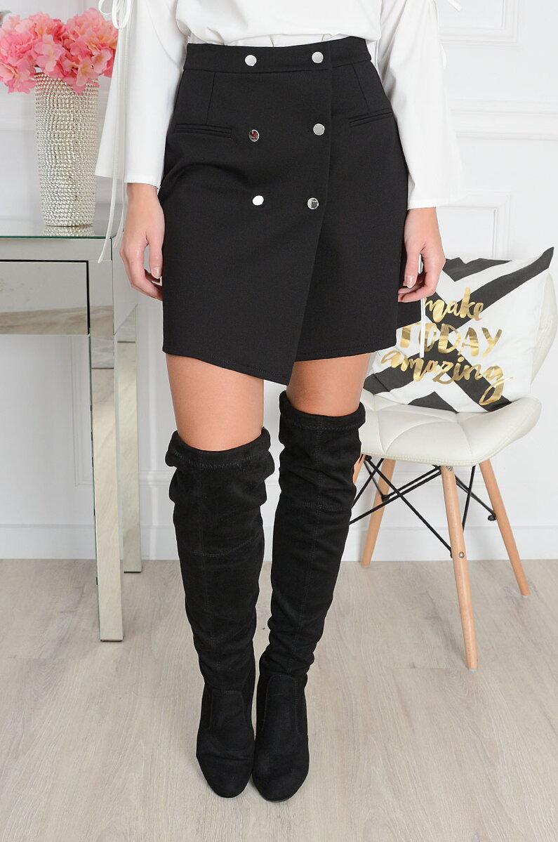 7e2643460f33 Áčková sukňa čiernej farby