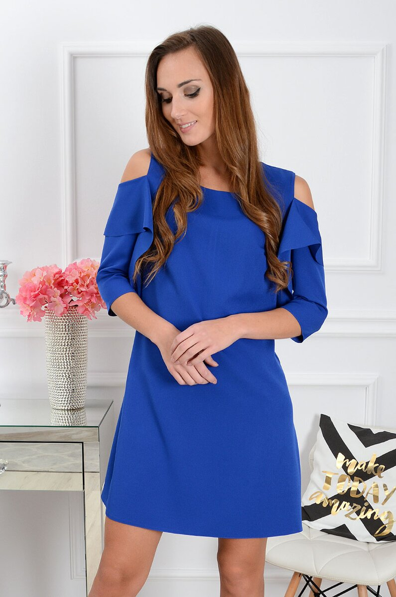 1e5e7e327ebc Dámske šaty Adria CO-33277 kráľovská modrá