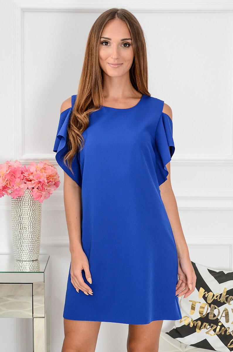 6658bf5e4ad7 Šaty s odhalenými ramenami Adria CO-36689 kráľovská modrá