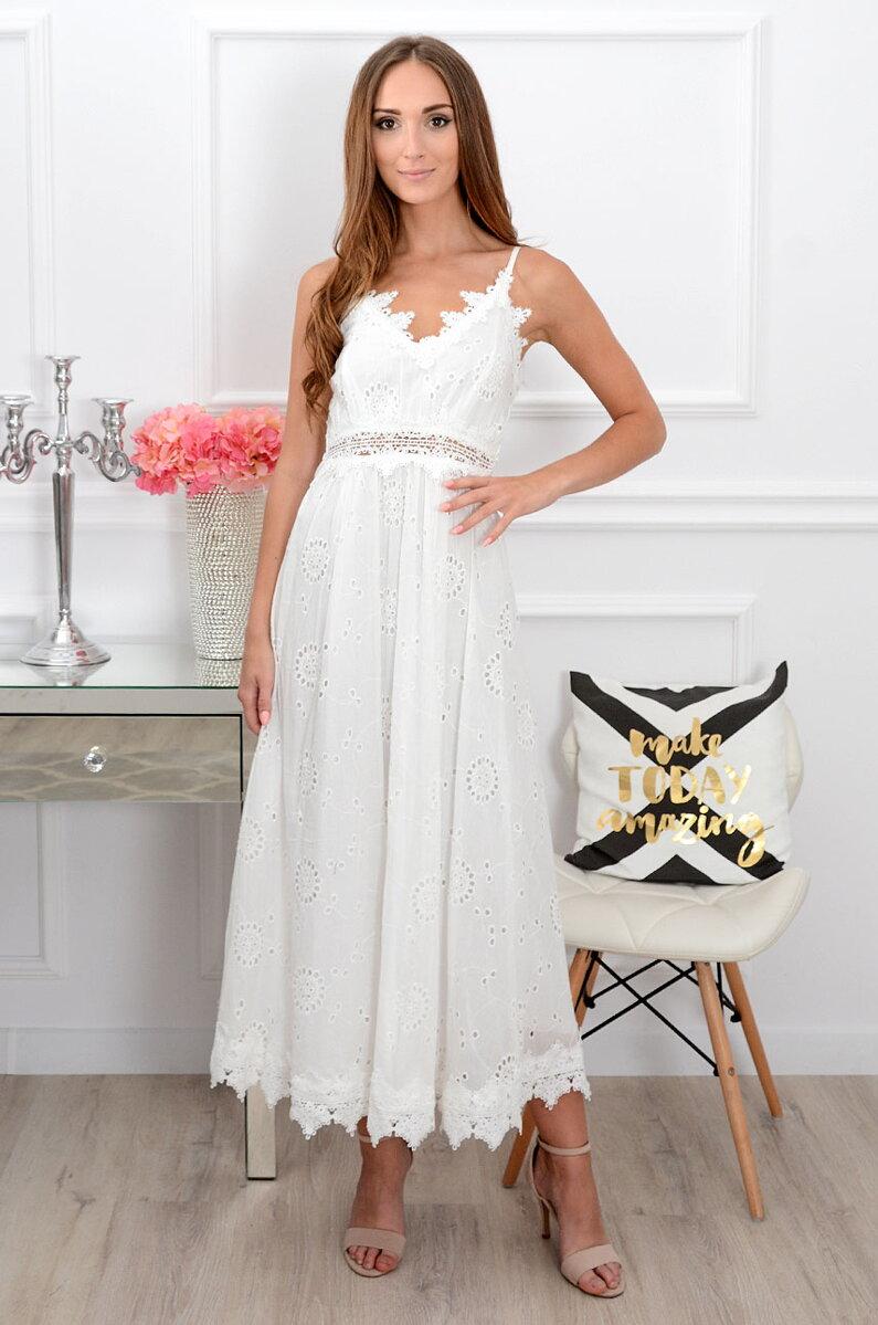 63da4b195cfd Dámske biele boho šaty Miranda CO-38797