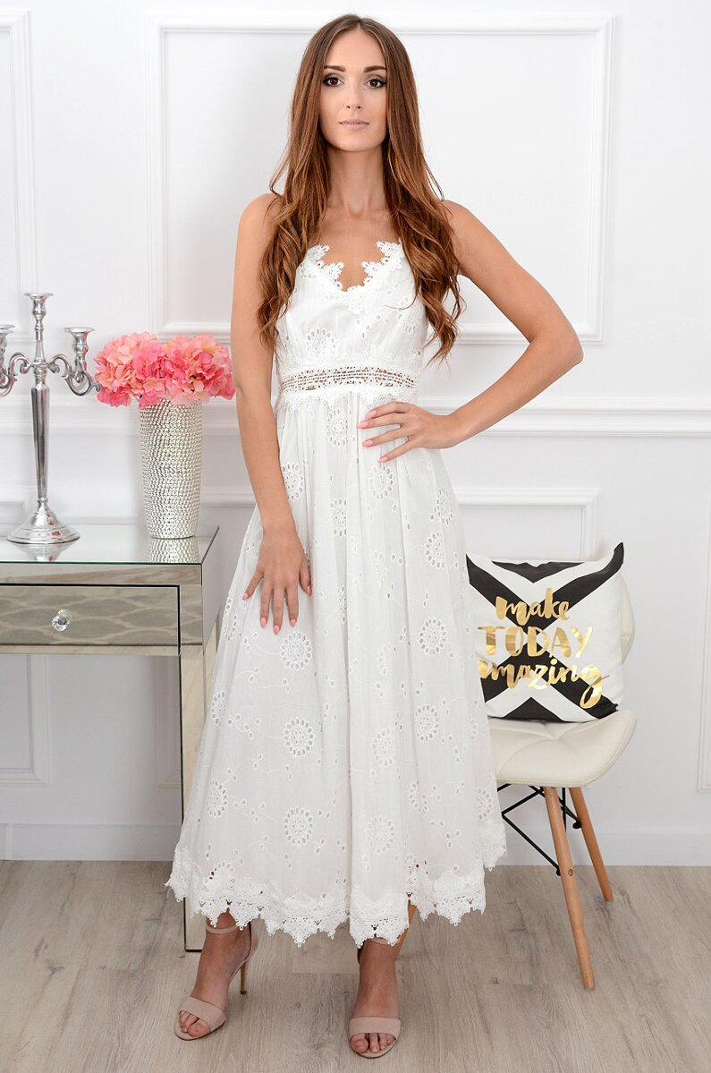 a9a6a95c9d6f Dámske biele boho šaty Miranda CO-38797. Next