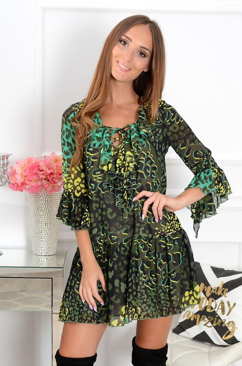 Šifónové vzorované šaty Florida CO-39162 zelené a1b1fedd84f