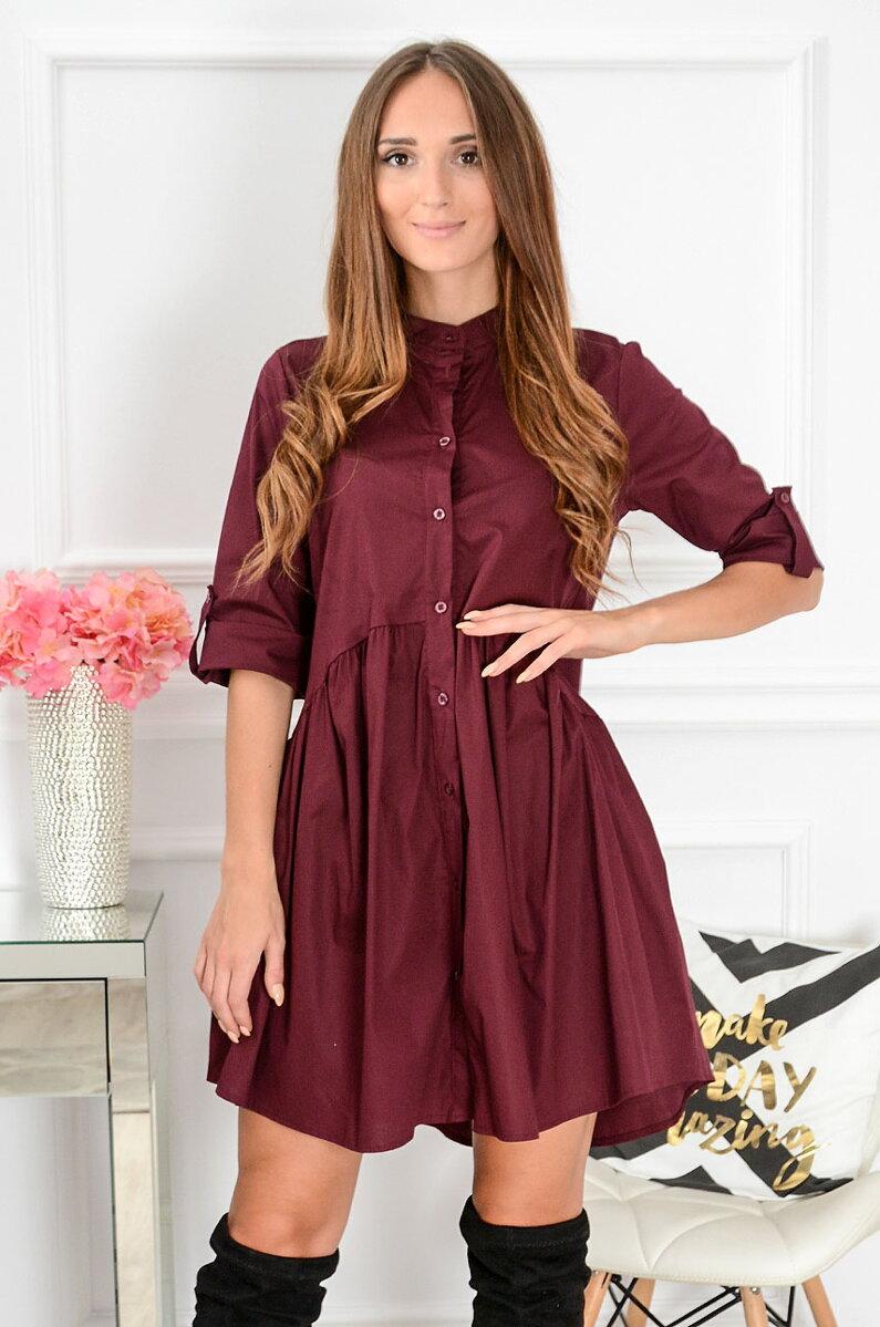 4ba762dc1395 Košeľové šaty Savona CO-39656 bordové