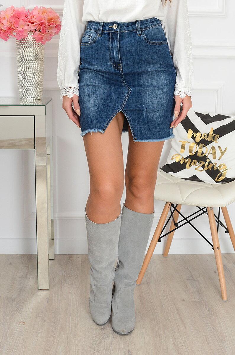 bf12db0074da Krátka dámska džínsová sukňa ǀ planeta-mody.sk