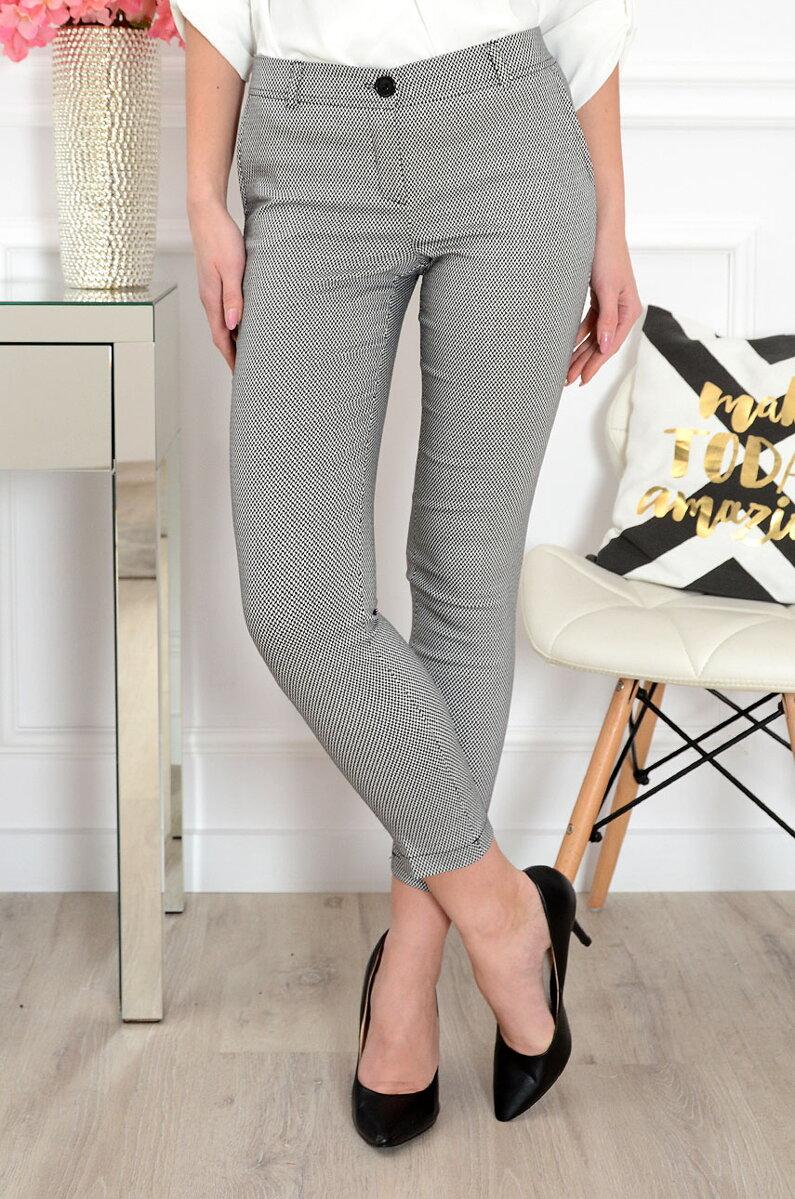 091f7d2f23bf Čierno-biele vzorované nohavice Ida