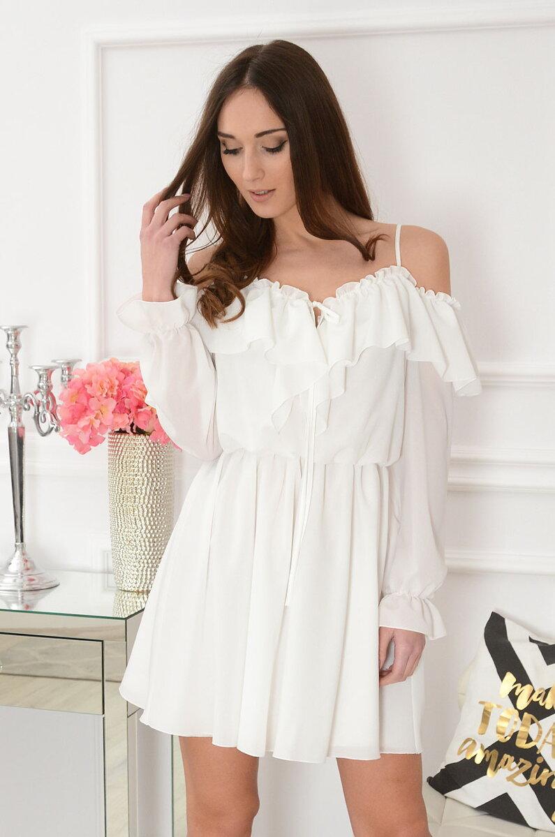 15ede6e22ce0 Biele romantické šaty Marija
