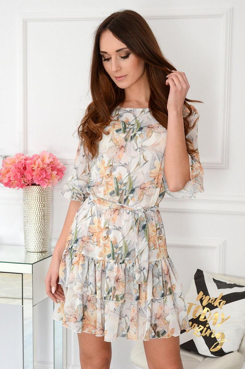 e28dda16c7ef Bledožlté šifónové šaty Liza