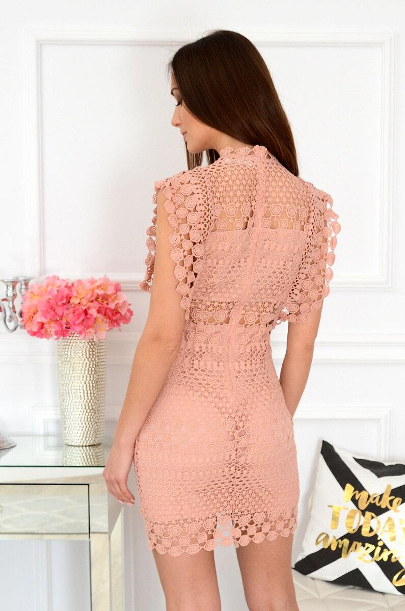 d19cd7439689 Staroružové krajkované spoločenské šaty Elif. Next
