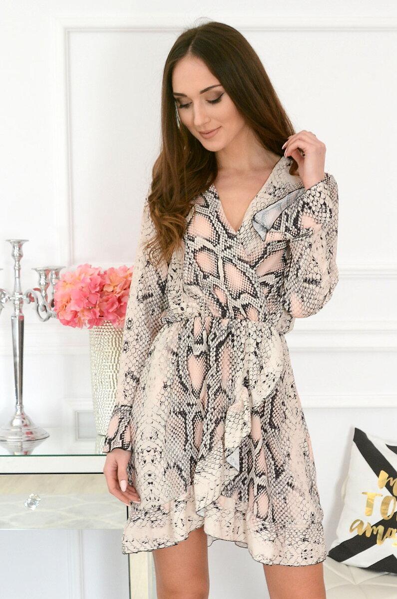 66ca42e5f027 Smotanovo-ružové šaty so vzorom Ariela