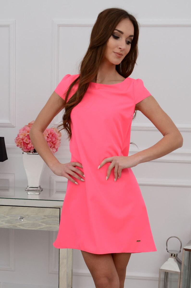 39bd4bdd2abe Áčkové neónovo-ružové šaty