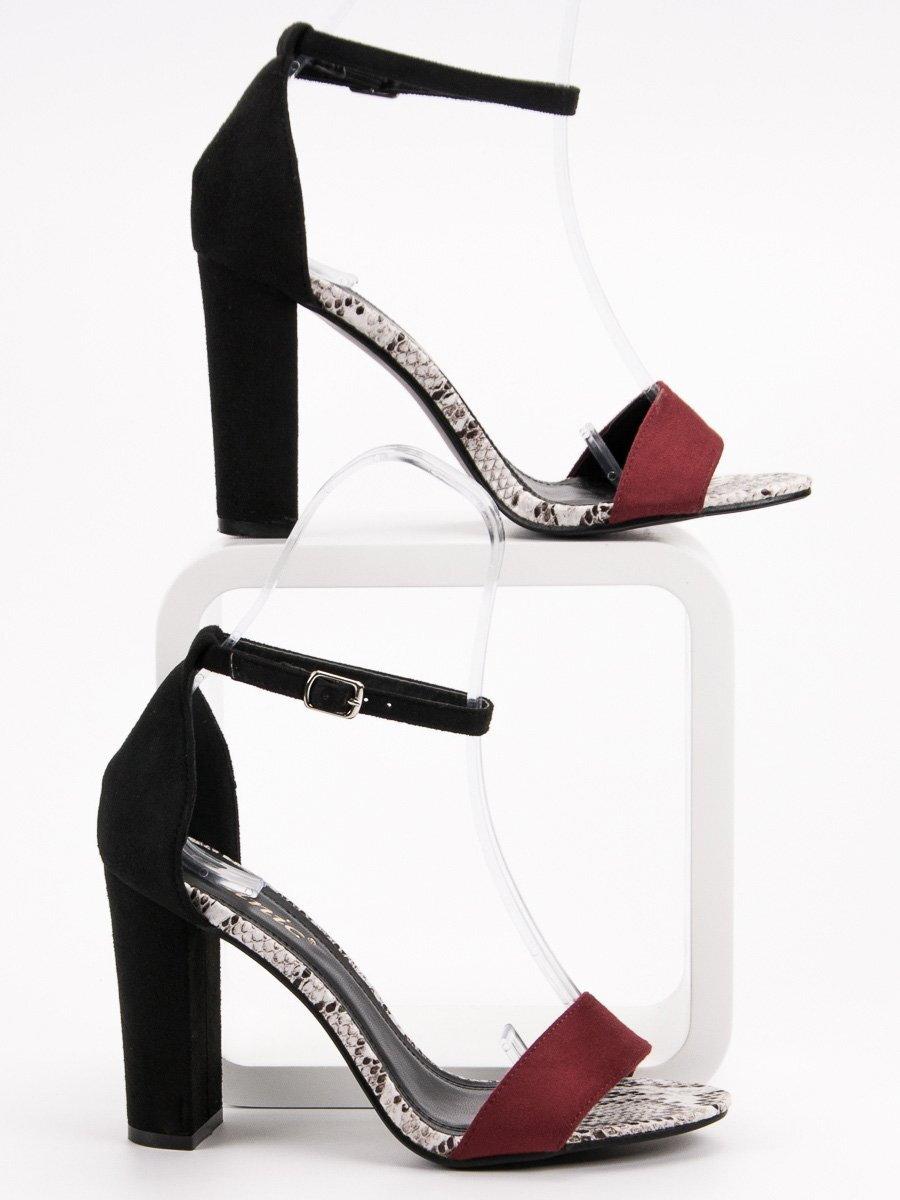 75eee88813f8 Dvojfarebné sandále so zapínaním