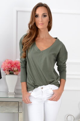 Dámsky top CO-31413 khaki