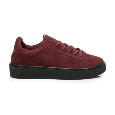 CREEPERS WINE RED SUEDE 8150-42W.R