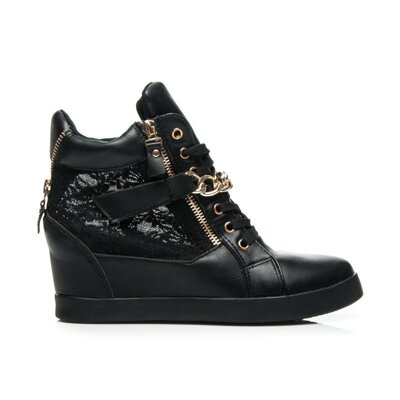 BLACK LACE SNEAKERS - K1430404G