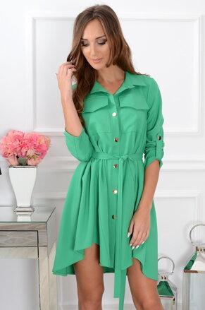 Unikátne asymetrické zelenej šaty CO-31288 aad057b802d