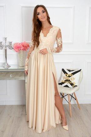 Dámske Maxi šaty Athena s dlhým rukávom CO-32366 beef05c11e0