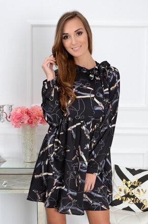 Dámske šaty Esoria CO-33047 čierne 08142c8964f