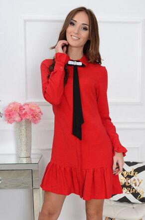 Elegantné šaty s brošňou Lumena CO-33940 6020c2df3e0