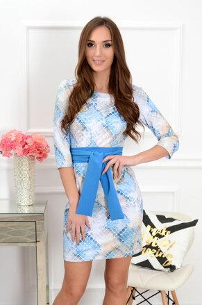 4bf8b269943e Vzorované hadie šaty s viazaním Melanie CO-35462
