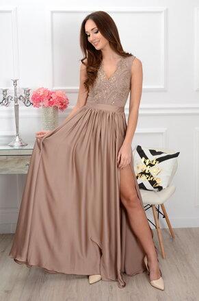 f4f6a80ed241 Dámske Maxi šaty Athena s dlhým rukávom CO-35492