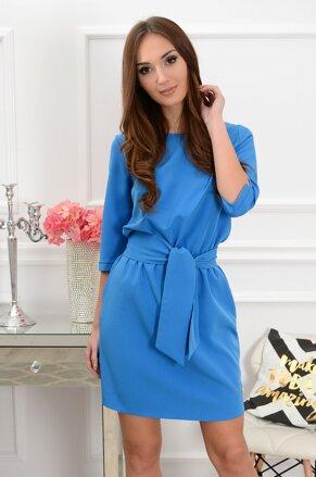 Modré šaty s viazaním Brook CO-35376 a863ea6d51d