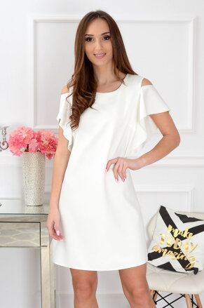 54d0d12a1ecd Dámske krémové šaty Adria CO-35725