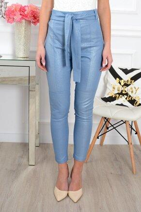 fae1cf0e22b9 Elegantné svetlomodré nohavice s vysokým pásom