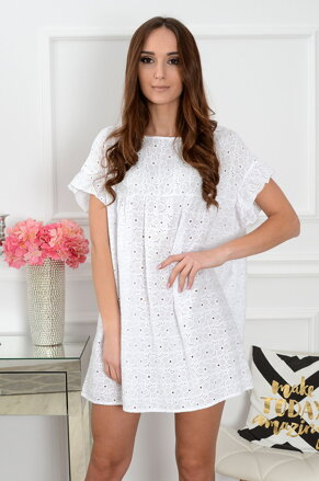 913d2bc9f608 Dámske biele boho šaty Pinny CO-36635
